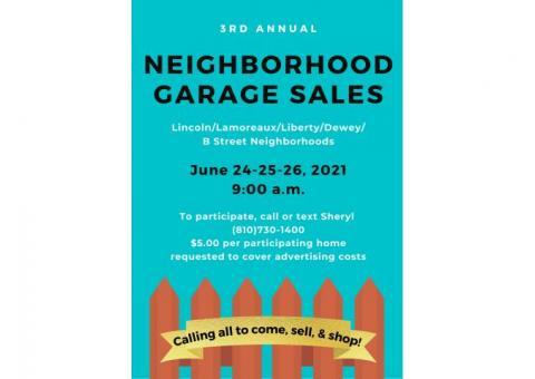 Lincoln Street Neighborhood Garage Sales